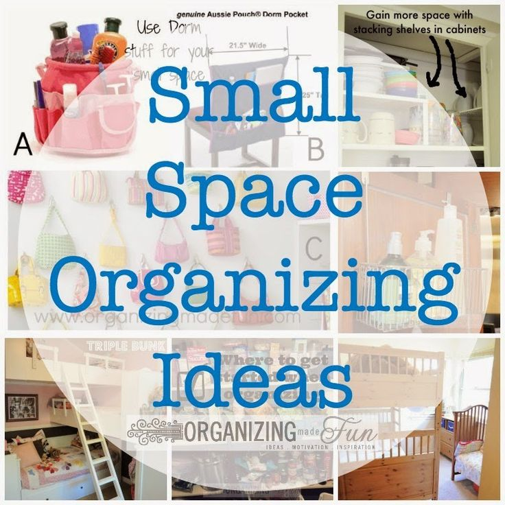 Are you struggling with organizing your small spaces? This is a great post to help you out! Small Space Organizing Ideas :: OrganizingMadeFun.com