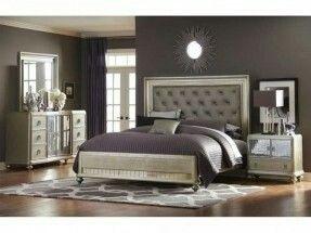 Home Meridian Platinum Collection Bedroom Set