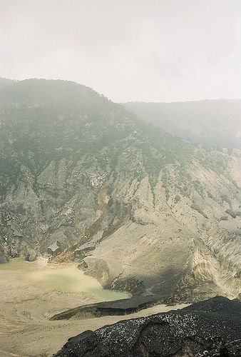 Tangkuban Parahu Crater - Bandung, Indonesia...aaahhh, the volcano I hiked in flip flops. :)