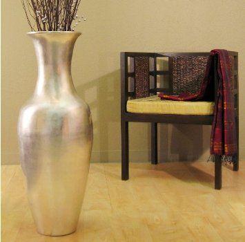 "Amazon.com: Shopping the Globe 36"" Silver Floor Vase - Super Sale!: Furniture & Decor"