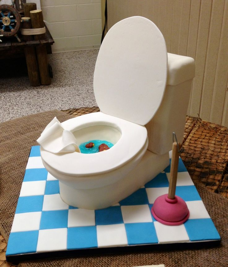 Toilet cake - Groom's cake for a plumber.