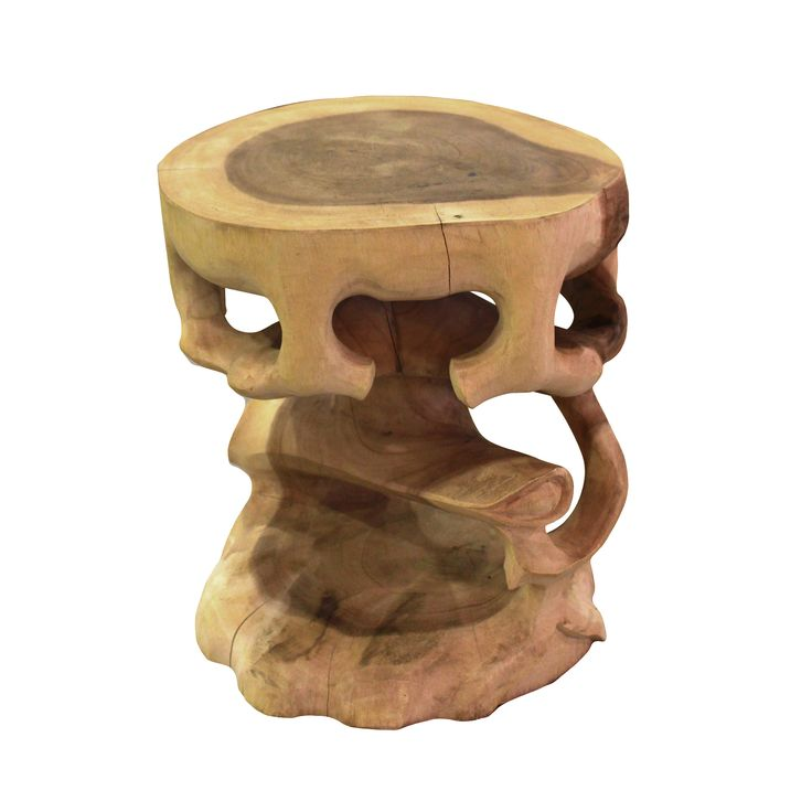 Round Stool - Bonsai. Natural details that trigers your creativity you can sit on, or put on a glass to make a side table.