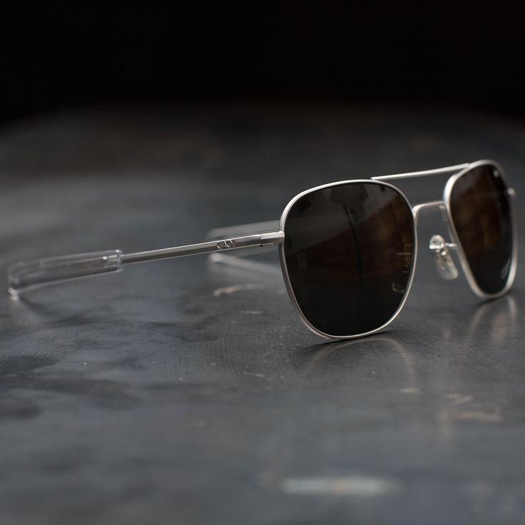 AO Original Pilot Sunglasses (Matte Chrome Frame)