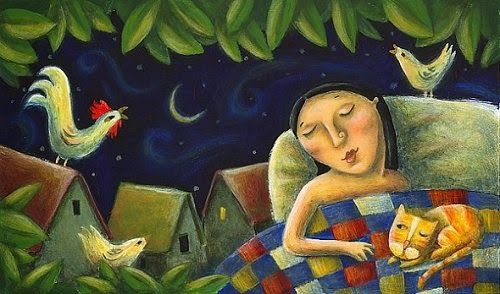 Copacul Kareliei - Come to enjoy, to the tree of my life!: Doarme noaptea peste sat