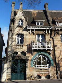 Art nouveau. Maison Huot. Nancy. France