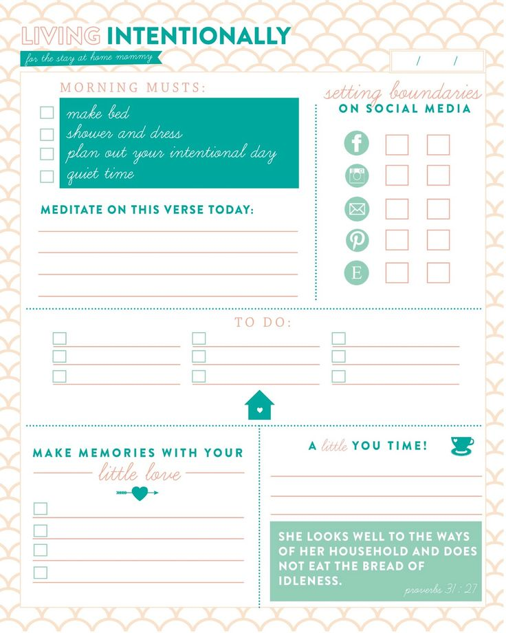 Check out this incredible daily planner for living intentional as a stay-at-home-mom! It's designed by my gifted friend, Brigette Turner! I will definitely be using it in the future.