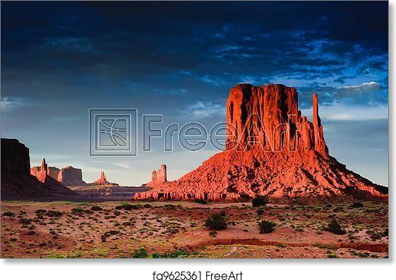 Freeart Fa9625361 In 2020 Monument Valley Monument Valley Arizona Desert Landscape Art