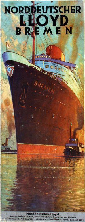 Norddeutscher Lloyd - Bremen - 1920's - (Richard Schmidt) -