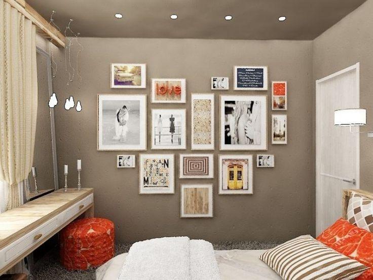 Схемы размещения фотографий на стенах
