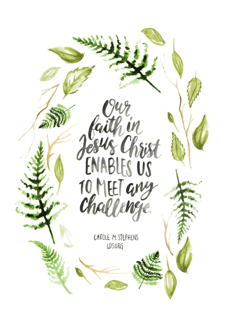 """Our faith in Jesus Christ enables us to meet any challenge."" —Carole M. Stephens #LDS #Christian"