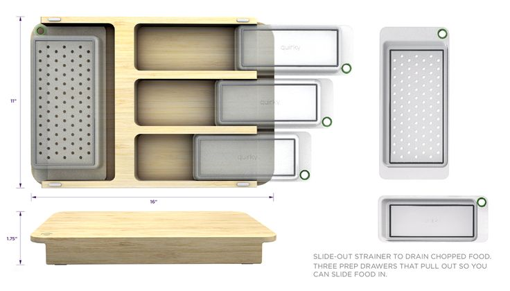 Cutting Board With Built In Storage Containers Space Saver