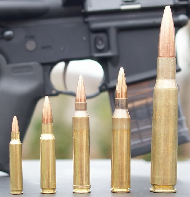 Military Rifle Rounds: 5.56mm NATO, 7.62mm NATO, .300 Winchester Magnum, .338 Lapua Magnum, .50BMG