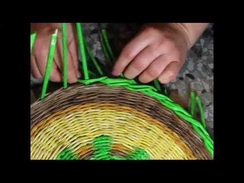 Woven newspaper basket. How to make edging. Part 2. - YouTube
