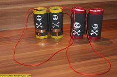 Recycling Basteln - Piratenparty, Kindergeburtstag 126