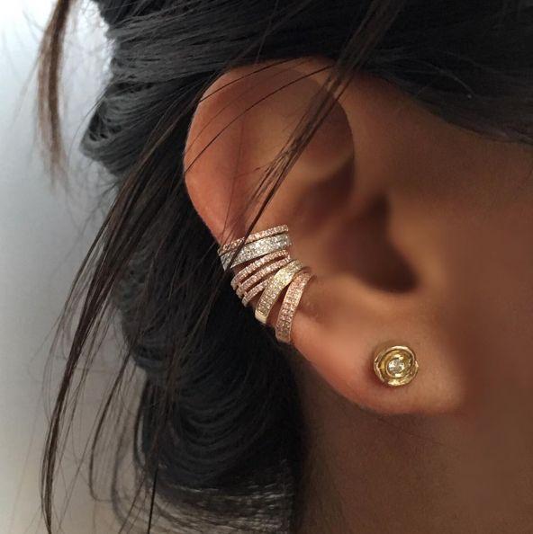 Roseark Diamond Ear Cuffs