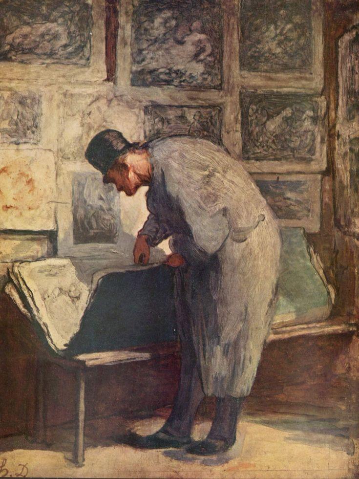 Daumier, ''The Print Lover,'' around 1857-1860