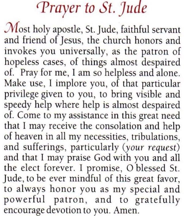 10 best St. Jude images on Pinterest | Catholic saints, Catholic ...