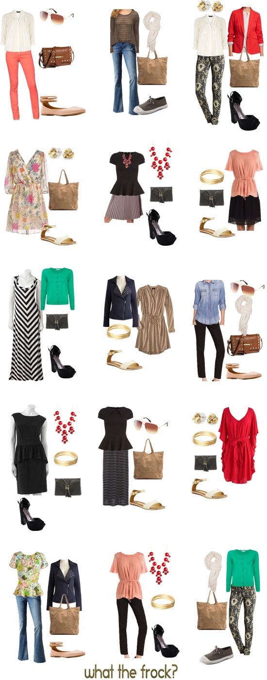 What the Frock? - Affordable Fashion Tips and Trends: What to Wear: Putting Together the Spring Basics