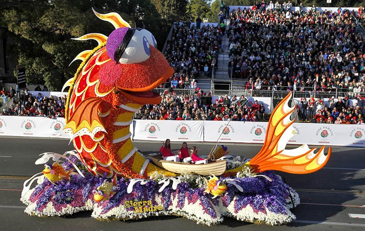 "2014 Rose Parade Times | Sierra Madre's entry in the 2014 Rose Parade is titled ""Catching the ..."