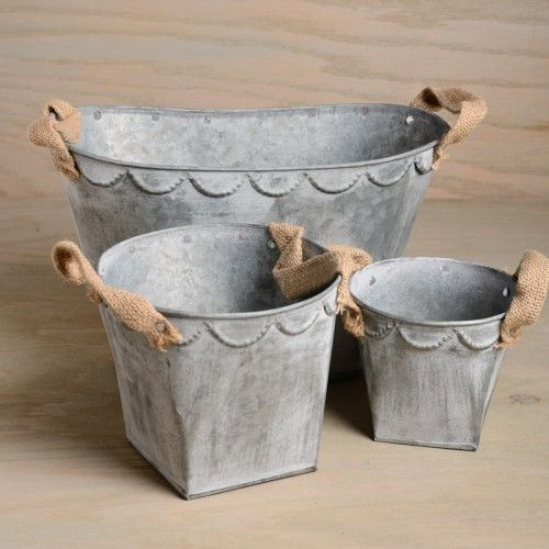 Tin+Bucket+with+Burlap+Handles