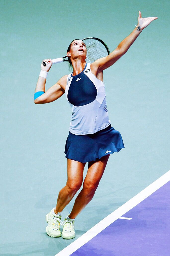Flavia Pennetta at the WTA Finals 2015 in Singapore #WTAFinals #Pennetta #Singapore