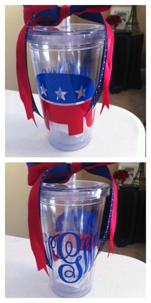 ahh love the republican, bow and monogram