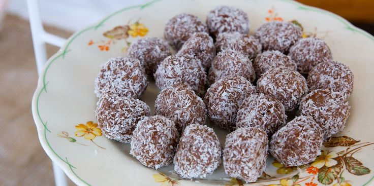 One of these Cashew Choc Bliss Balls will satisfy your chocolate cravings in a flash!