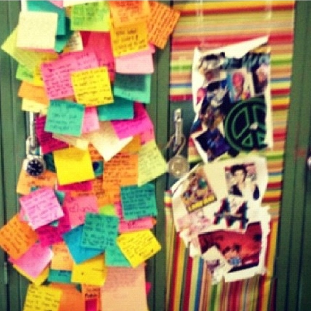 Don't be surprised if I do this to your locker on your birthday.. ;)