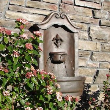 Weathered Bronze Lafayette Outdoor Wall Fountain