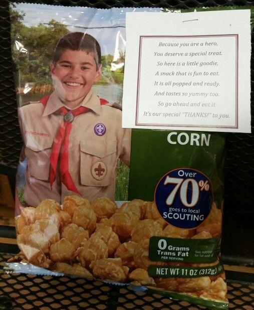 Trails End Popcorn donation poem Cub Scout / Boy Scout