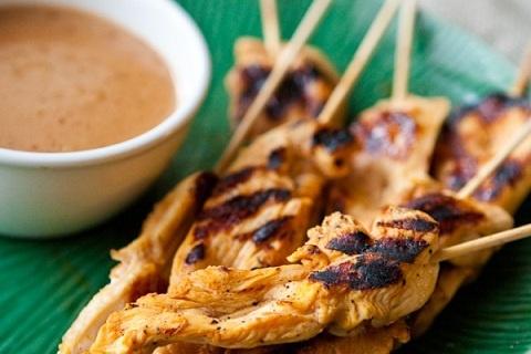 sauces spicy peanut sauce satay recipe peanut chicken grilled chicken ...
