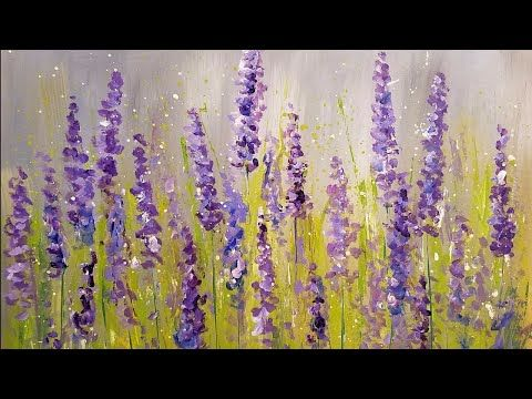 Easy Lavender Painting With Cotton Swabs Acrylic