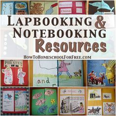 "10 Free Lapbooking & Notebooking Resources - ""A lapbook can also be called a layer book, flap book, or shutter book. Basically, it is made of at least 2 manila folders with sections of mini-books, pictures, facts, poems, or anything related to the lesson at hand."" #homeschooling #lapbooking #lapbooks"