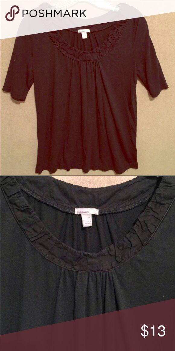 Black Old Navy Top Super comfy black Old Navy short sleeved top. Old Navy Tops