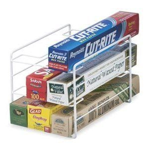 Schulte Kitchen Wrap Organizer, White by Schulte. $9.76. Made from heavy gauge steel. Easy to clean. Durable epoxy coating. The perfect solution for storing plastic wrap, aluminum foil, and food storage bags. Use it in your pantry or under your sink. The wrap organizer makes it easy to access what you need when you are covering left overs or packing your kids lunch for school.
