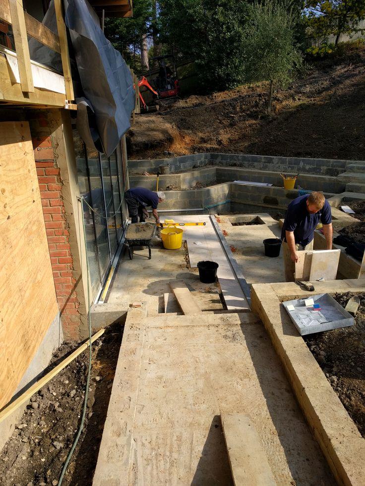 Terrace underway at our Chislehurst Project.  With delbuono-gazerwitz.co.uk/