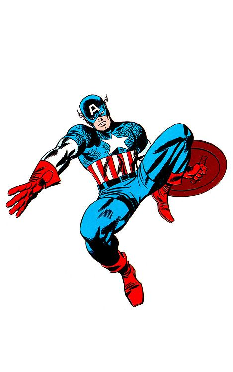 Captain america by jack kirby chic stone