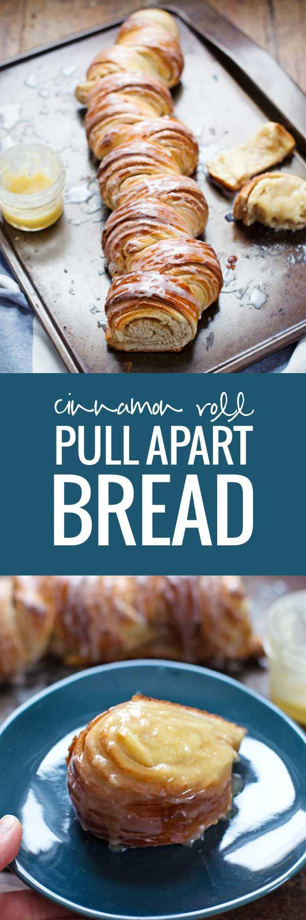 Homemade Cinnamon Roll Pull Apart Bread - So pretty and totally irresistible.
