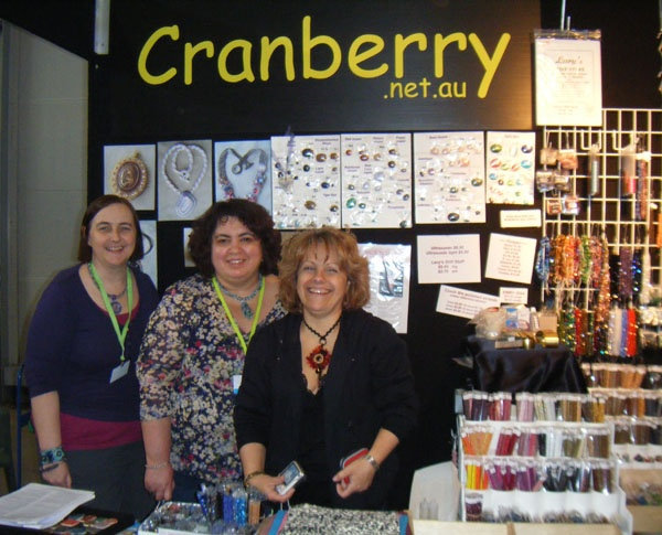 Sydney Bead and Gem Show 2009 - with assistants :)