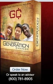 Dave Ramsey's Teen Bible Study On Money - Generation Change - daveramsey.com