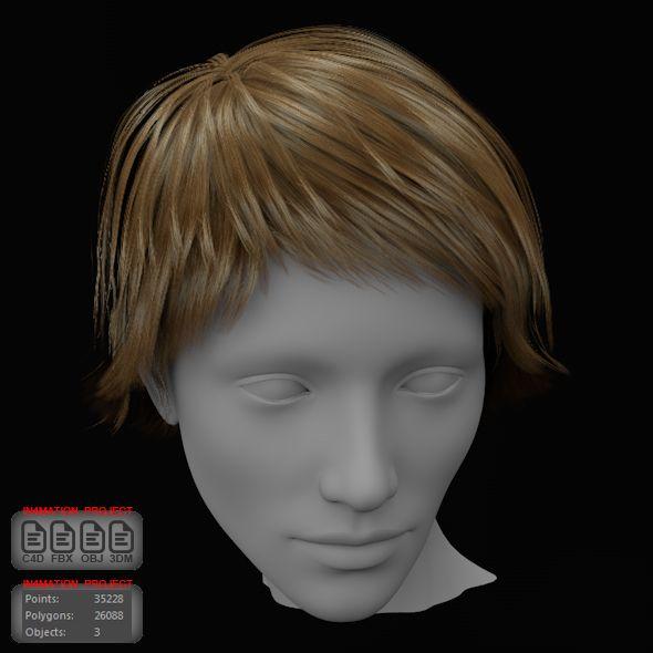 3d Models Short Hair Female Unity