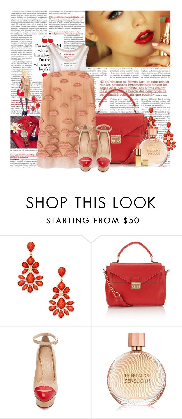 """Untitled #605"" by zlatiii ❤ liked on Polyvore featuring Yves Saint Laurent, Amrita Singh, Accessorize, Philosophy di Alberta Ferretti, Charlotte Olympia and AERIN"