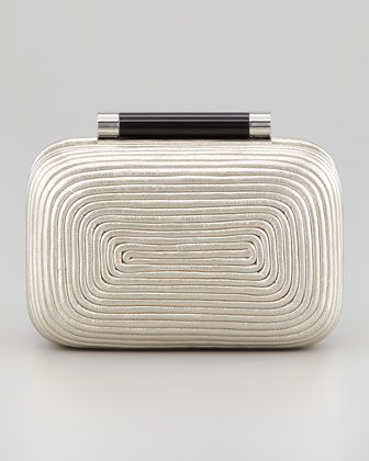 Tonda Small Metallic Clutch Bag, Light Gold by Diane von Furstenberg at Neiman Marcus.