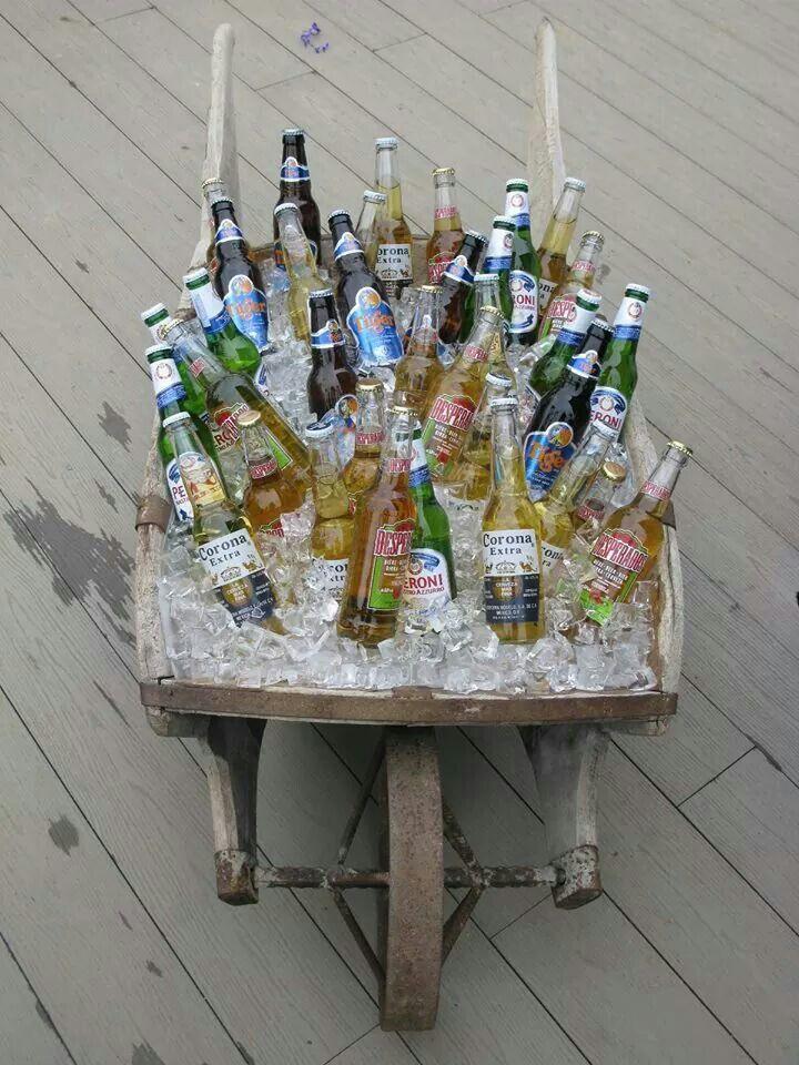 wedding reception venues north yorkshire%0A Wrays Barn Weddings Rustic wheelbarrow beer vintage ceremony civil welcome  drinks