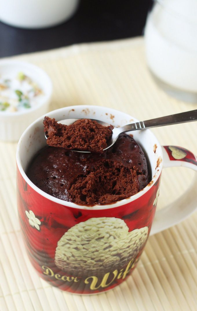 delicious and tasty microwave chocolate cake-recipe for making chocolate cake in a mug