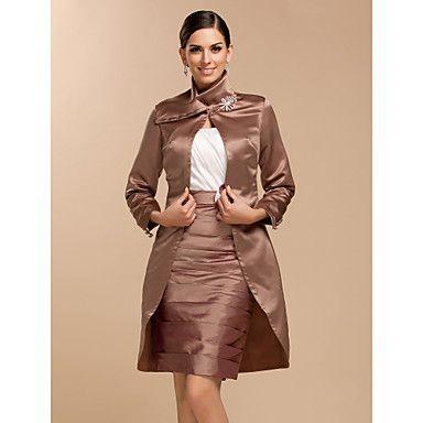 mooie lange mouw satijnen avond / bruiloft avond jas / wrap (meer kleuren) bolero schouderophalen – EUR € 46.05