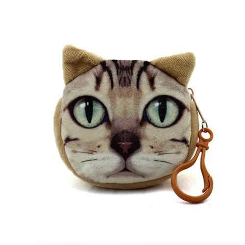 4455a92c7633 11 Style Mini 3D Cat Plush Coin Purse Animals Prints Zipper Wallets  Harajuku Children Bag Women Billeteras Cute Monedero Gato