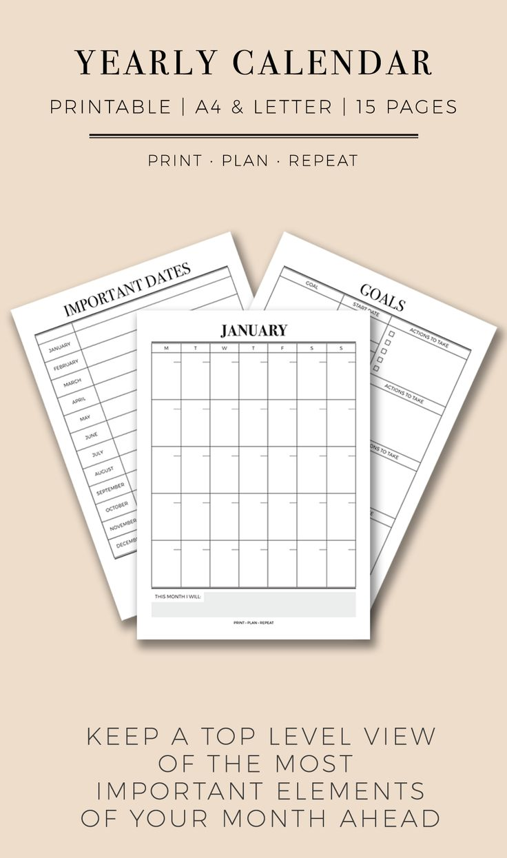 14 best PRINT • PLAN • REPEAT | PRINTABLE PLANNERS FOR PRODUCTIVITY ...