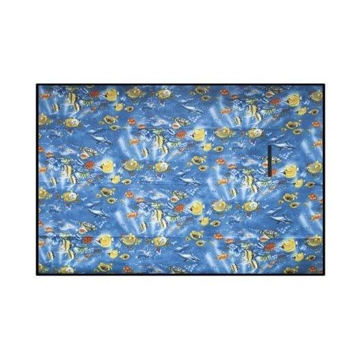 Piknikové deky modrej farby s motívom rybičiek
