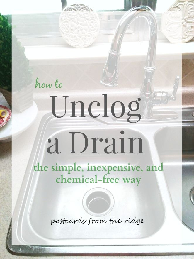 To unclog a kitchen sink the simple inexpensive and chemical free way